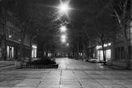 Schillerstraße bei Nacht