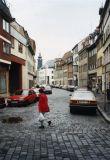 Marktstraße mit Schlossturm