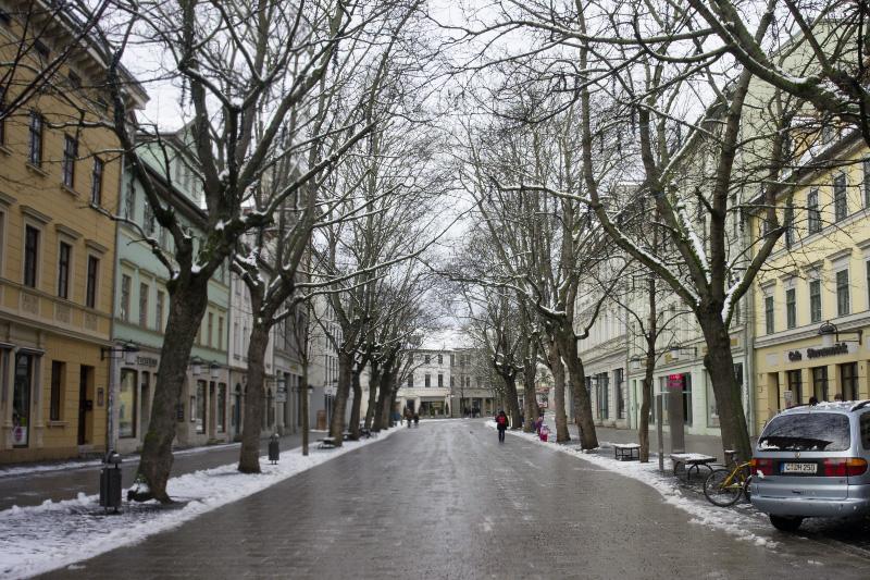 Schillerstraße im Winter, 1982-01-00